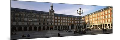 Tourists in the Courtyard of a Building, Plaza Mayor, Madrid, Spain--Mounted Photographic Print
