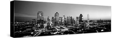 Night, Dallas, Texas, USA--Stretched Canvas Print