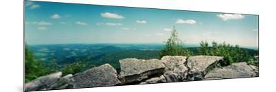 View from the Pinnacle of the Appalachian Trail, Blue Mountain, Appalachian Mountains--Mounted Photographic Print