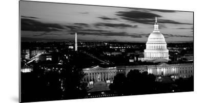High Angle View of a City Lit Up at Dusk, Washington Dc, USA--Mounted Photographic Print