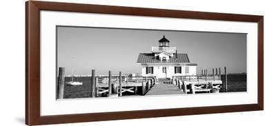 Roanoke Marshes Lighthouse, Outer Banks, North Carolina, USA--Framed Photographic Print