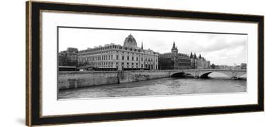 Pont Au Change over Seine River, Palais De Justice, La Conciergerie, Paris, Ile-De-France, France--Framed Photographic Print
