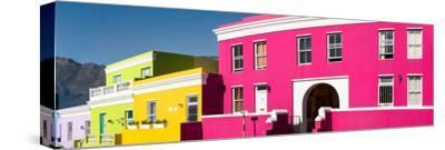 Colorful Houses in a City, Bo-Kaap, Cape Town, Western Cape Province, South Africa--Stretched Canvas Print