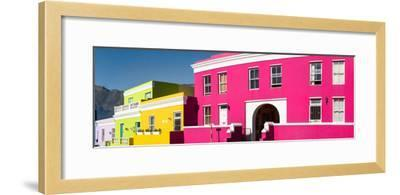 Colorful Houses in a City, Bo-Kaap, Cape Town, Western Cape Province, South Africa--Framed Photographic Print