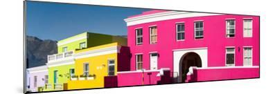 Colorful Houses in a City, Bo-Kaap, Cape Town, Western Cape Province, South Africa--Mounted Photographic Print