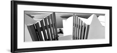 Gate at the Terrace of a House, Santorini, Cyclades Islands, Greece--Framed Photographic Print