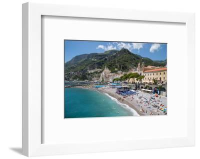 Promenade, Amalfi, Costiera Amalfitana (Amalfi Coast), UNESCO World Heritage Site, Campania-Frank Fell-Framed Photographic Print