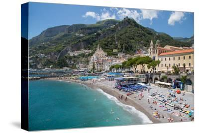 Promenade, Amalfi, Costiera Amalfitana (Amalfi Coast), UNESCO World Heritage Site, Campania-Frank Fell-Stretched Canvas Print