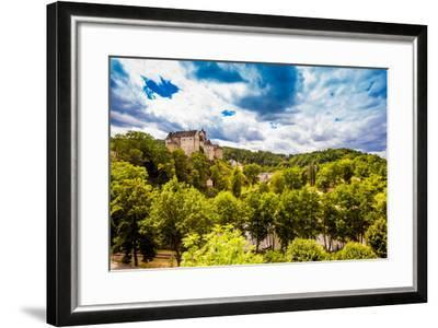 View of Loket Castle in the Countryside of the West Bohemian Spa Triangle Outside of Karlovy Vary-Laura Grier-Framed Photographic Print