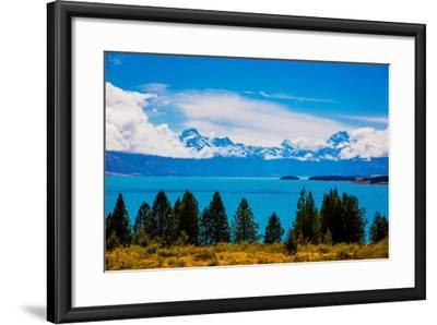 Glacier Lake, South Island, New Zealand, Pacific-Laura Grier-Framed Photographic Print