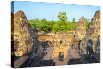 Pre Rup (Prae Roup) Temple Ruins, Angkor Archaeological Park, UNESCO World Heritage Site-Jason Langley-Stretched Canvas Print