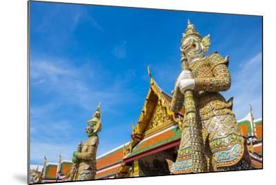 Yaksha Thotsakhirithon Statue in Front of Phra Ubosot, Temple of the Emerald Buddha (Wat Phra Kaew)-Jason Langley-Mounted Photographic Print