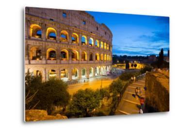 The Colosseum, UNESCO World Heritage Site, Rome, Lazio, Italy, Europe-Frank Fell-Metal Print