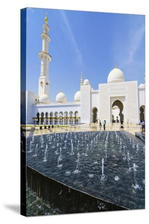 Sheikh Zayed Mosque, Abu Dhabi, United Arab Emirates, Middle East-Fraser Hall-Stretched Canvas Print
