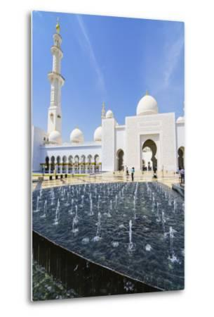 Sheikh Zayed Mosque, Abu Dhabi, United Arab Emirates, Middle East-Fraser Hall-Metal Print