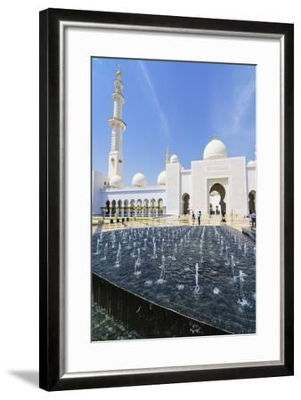 Sheikh Zayed Mosque, Abu Dhabi, United Arab Emirates, Middle East-Fraser Hall-Framed Photographic Print