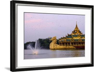 Karaweik, Kan Daw Gyi Lake and Park, Yangon (Rangoon), Myanmar (Burma), Asia-Nathalie Cuvelier-Framed Photographic Print