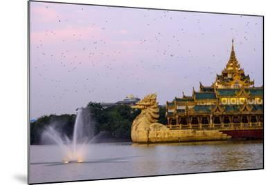 Karaweik, Kan Daw Gyi Lake and Park, Yangon (Rangoon), Myanmar (Burma), Asia-Nathalie Cuvelier-Mounted Photographic Print