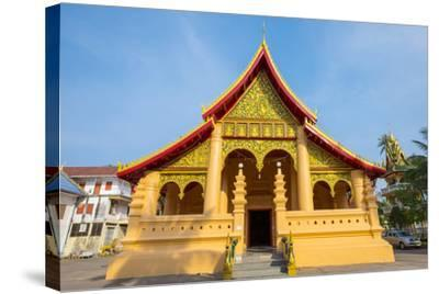Wat Ong Teu Mahawihan Buddhist Temple, Vientiane, Laos, Indochina, Southeast Asia, Asia-Jason Langley-Stretched Canvas Print
