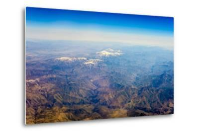 Aerial View of Kashmir Mountains, Near the Border of Pakistan and Afghanistan, Asia-Jason Langley-Metal Print