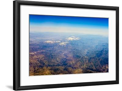 Aerial View of Kashmir Mountains, Near the Border of Pakistan and Afghanistan, Asia-Jason Langley-Framed Photographic Print