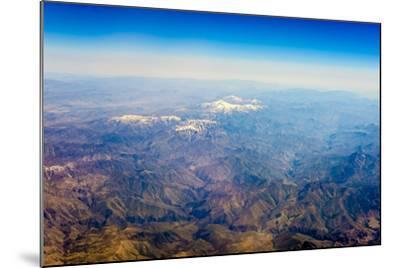 Aerial View of Kashmir Mountains, Near the Border of Pakistan and Afghanistan, Asia-Jason Langley-Mounted Photographic Print