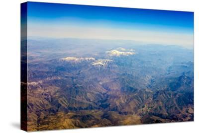 Aerial View of Kashmir Mountains, Near the Border of Pakistan and Afghanistan, Asia-Jason Langley-Stretched Canvas Print