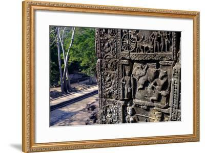 Temple of Baphuon, Built by King Udayaditiavarman Ii in the Mid-11th Century, Restoration Work-Nathalie Cuvelier-Framed Photographic Print
