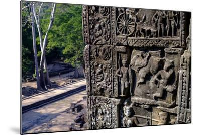 Temple of Baphuon, Built by King Udayaditiavarman Ii in the Mid-11th Century, Restoration Work-Nathalie Cuvelier-Mounted Photographic Print