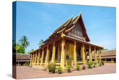 Wat Si Saket (Wat Sisaket) Temple, Vientiane, Laos, Indochina, Southeast Asia, Asia-Jason Langley-Stretched Canvas Print