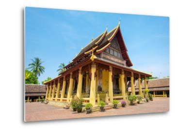 Wat Si Saket (Wat Sisaket) Temple, Vientiane, Laos, Indochina, Southeast Asia, Asia-Jason Langley-Metal Print
