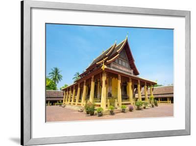 Wat Si Saket (Wat Sisaket) Temple, Vientiane, Laos, Indochina, Southeast Asia, Asia-Jason Langley-Framed Photographic Print