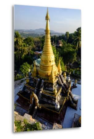 Kyaik Than Lan Pagoda, Mawlamyine (Moulmein), Myanmar (Burma), Asia-Nathalie Cuvelier-Metal Print