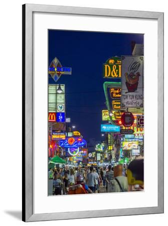 Khaosan Road at Night, Bangkok, Thailand, Southeast Asia, Asia-Jason Langley-Framed Photographic Print