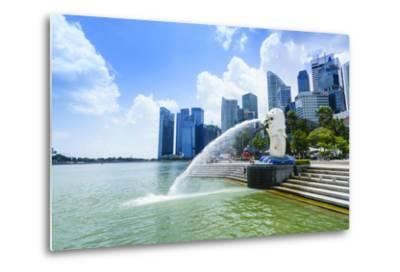 Merlion Statue, the National Symbol of Singapore and its Most Famous Landmark, Merlion Park-Fraser Hall-Metal Print