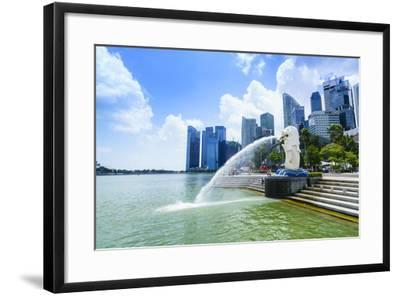 Merlion Statue, the National Symbol of Singapore and its Most Famous Landmark, Merlion Park-Fraser Hall-Framed Photographic Print