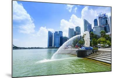 Merlion Statue, the National Symbol of Singapore and its Most Famous Landmark, Merlion Park-Fraser Hall-Mounted Photographic Print