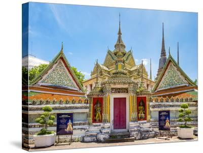Wat Pho (Temple of the Reclining Buddha), Bangkok, Thailand, Southeast Asia, Asia-Jason Langley-Stretched Canvas Print