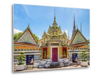 Wat Pho (Temple of the Reclining Buddha), Bangkok, Thailand, Southeast Asia, Asia-Jason Langley-Metal Print