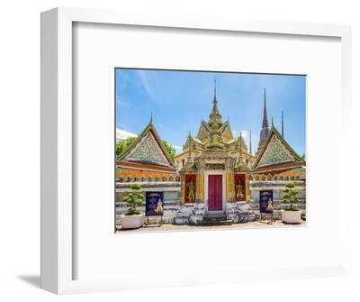 Wat Pho (Temple of the Reclining Buddha), Bangkok, Thailand, Southeast Asia, Asia-Jason Langley-Framed Photographic Print