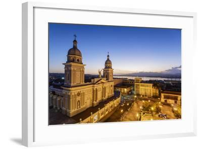 Nuestra Senora De La Asuncion Cathedral at Parque Cespedes, Santiago De Cuba, Cuba-Yadid Levy-Framed Photographic Print