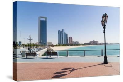 View from the Breakwater Towards Abu Dhabi Oil Company Hq and Etihad Towers, Abu Dhabi-Fraser Hall-Stretched Canvas Print