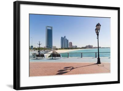 View from the Breakwater Towards Abu Dhabi Oil Company Hq and Etihad Towers, Abu Dhabi-Fraser Hall-Framed Photographic Print