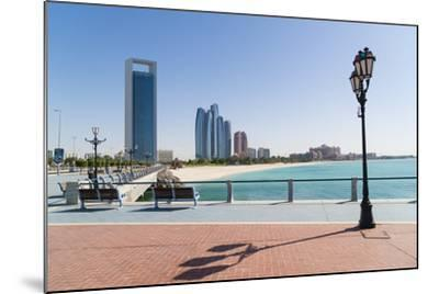 View from the Breakwater Towards Abu Dhabi Oil Company Hq and Etihad Towers, Abu Dhabi-Fraser Hall-Mounted Photographic Print