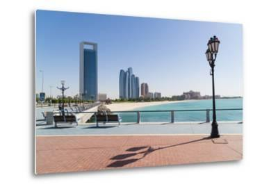 View from the Breakwater Towards Abu Dhabi Oil Company Hq and Etihad Towers, Abu Dhabi-Fraser Hall-Metal Print