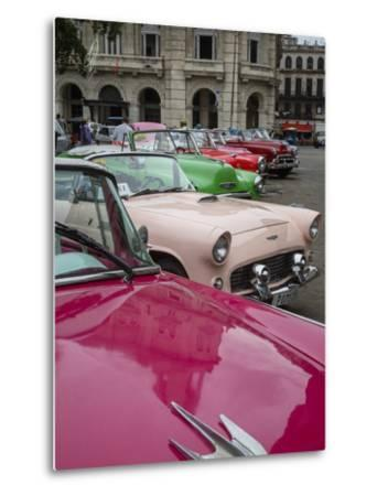Vintage American Cars, Havana, Cuba, West Indies, Caribbean, Central America-Yadid Levy-Metal Print