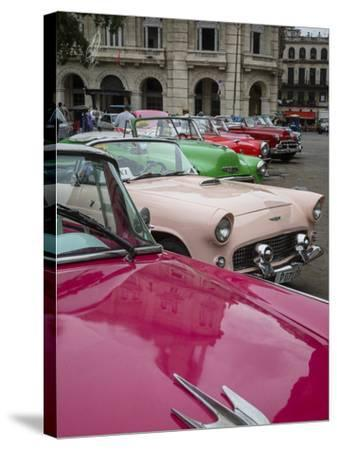 Vintage American Cars, Havana, Cuba, West Indies, Caribbean, Central America-Yadid Levy-Stretched Canvas Print