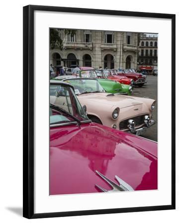 Vintage American Cars, Havana, Cuba, West Indies, Caribbean, Central America-Yadid Levy-Framed Photographic Print