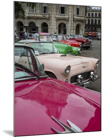 Vintage American Cars, Havana, Cuba, West Indies, Caribbean, Central America-Yadid Levy-Mounted Photographic Print