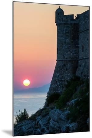 Sunset at the Walls of Old Town, Dubrovnik, UNESCO World Heritage Site, Croatia, Europe-Karen Deakin-Mounted Photographic Print